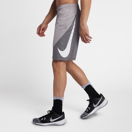 [해외] Mens 9 Basketball Shorts [나이키 반바지] Atmosphere Grey/Gunsmoke/White (910704-027)