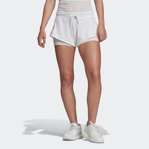 Womens adidas by Stella McCartney adidas by Stella McCartney Court Shorts [아디다스 반바지] White (EA3125)