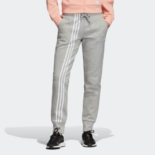 Womens Athletics Must Haves 3-Stripes Pants [아디다스 트레이닝 바지] Medium Grey Heather/White (EB3827)
