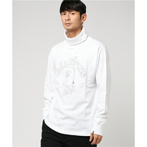 [해외]BAPE CUT OFF COLLEGE TURTLE NECK WIDE SWEAT M [베이프 긴팔 티셔츠] (961/17370961/17370961_1_D_125)