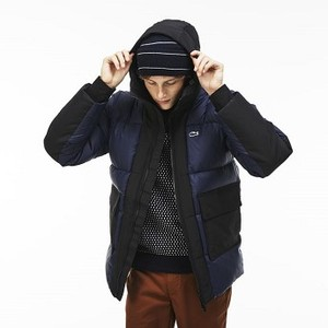 [해외] Lacoste Mens LIVE Hooded Colorblock Quilted Down Jacket [라코스테자켓] (BH7851_JB1_20)