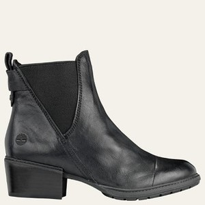 [해외] Timberland Womens Sutherlin Bay Stretch Chelsea Boots [팀버랜드 부츠] Black Full-Grain (A1T84015)