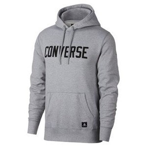 [해외] CONVERSE Converse Essentials Logo Pullover Light Grey Heather (converse-essentials-logo-pullover-mens-hoodie-Lkln)