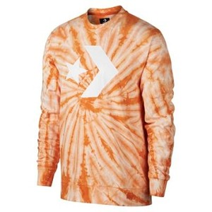 [해외] CONVERSE Converse Star Chevron Lightweight Tie Dye Crew Orange (10005832-806)