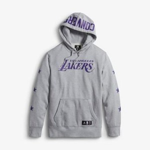 [해외] CONVERSE Converse x NBA Los Angeles Lakers Essentials Pullover Light Grey Heather (converse-x-nba-los-angeles-lakers-essentials-pullo)