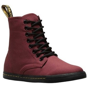 [해외] Dr. Martens Sheridan High Top Sneaker Junior [닥터마틴,닥터마틴8홀] Cherry Red T Canvas (1855024)