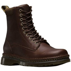 [해외] Dr. Martens Vincent 10-Eye Combat Boot [닥터마틴,닥터마틴8홀] Dark Brown Grizzly Leather (1853842)