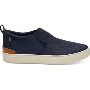 [해외] TOMS Water Resistant Navy Treated Canvas and Nylon Mens Paxton [탐스슬립온,탐스슈즈] (889556500772)