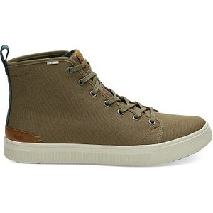 [해외] TOMS Military Olive Camo Canvas Mens TRVL LITE High Sneakers [탐스슬립온,탐스슈즈] (889556500123)