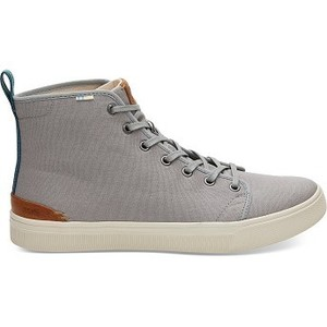 [해외] TOMS Neutral Grey Canvas Mens TRVL LITE High Sneakers [탐스슬립온,탐스슈즈] (889556503490)