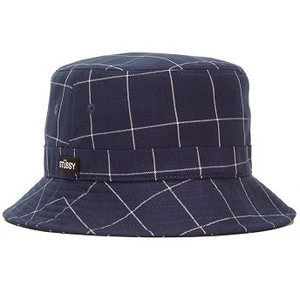 [해외] Stussy Window Pane Bucket Hat [스투시모자] (132886_MARO_1)