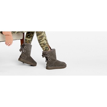 [해외] Customizable Bailey Bow Short Boot [UGG 어그] CHARCOAL (1098075)