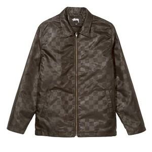TONAL CHECK JACKET (115401_BLAC_1)