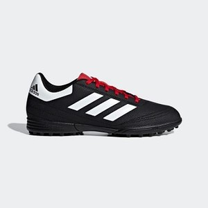 [해외] Mens Soccer Goletto 6 Turf Shoes [아디다스 축구화] Core Black/Cloud White/Scarlet (G26369)