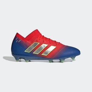 [해외] Soccer Nemeziz Messi 18.1 Firm Ground Cleats [아디다스 축구화] Active Red/Silver Metallic/Football Blue (BB9444)