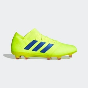 [해외] Soccer Nemeziz 18.1 Firm Ground Cleats [아디다스 축구화] Solar Yellow/Football Blue/Active Red (BB9426)