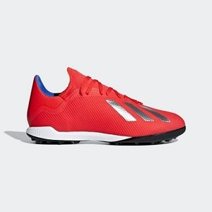 [해외] Soccer X Tango 18.3 Turf Shoes [아디다스 축구화] Active Red/Silver Metallic/Bold Blue (BB9399)