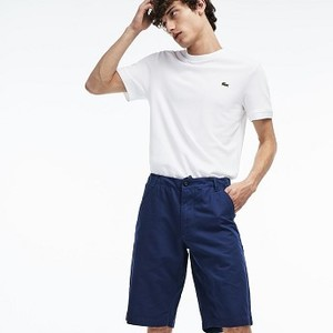 [해외] Mens Regular Fit Cotton And Linen Shorts [라코스테 바지] INKWELL (FH6982-51)