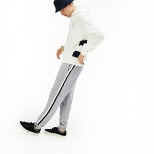 [해외] Mens Striped Accent Fleece Sweatpants [라코스테 바지] Grey Chine (XH4338-51)