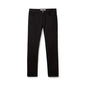 [해외] Mens Slim Fit Stretch Cotton Pants [라코스테 바지] Black (HH9561-51)