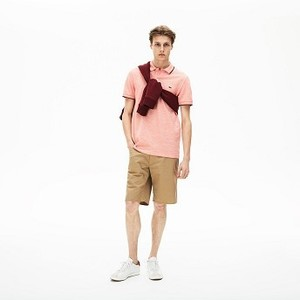 [해외] Mens Regular Fit Lightweight Cotton Shorts [라코스테 바지] Beige (FH4802-51)
