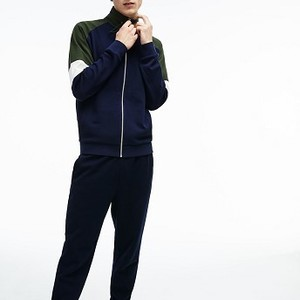 [해외] Mens Milano Cotton Jogging Pants [라코스테 바지] Navy Blue/White (XH4366-51)