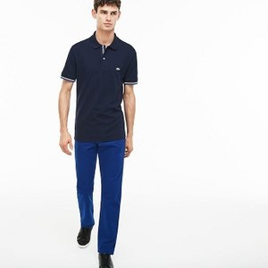 [해외] Mens Regular Fit Cotton Gabardine Chino Pants [라코스테 바지] Navy Blue (HH0101-51)