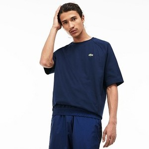 [해외] Mens LIVE Crew Neck Cotton T-shirt [라코스테 반팔,폴로티] Navy Blue/Navy Blue (TH3770-51)