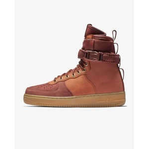 [해외] Nike SF Air Force 1 Premium [나이키 하이탑] Dark Russet/Phantom/Gum Light Brown/Pueblo Brown (AQ0118-200)