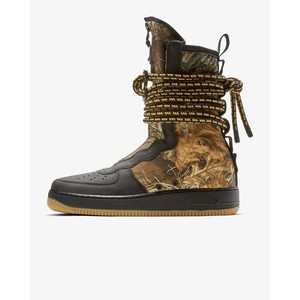 [해외] Nike SF Air Force 1 High Realtree® [나이키 하이탑] Black/Gum Medium Brown/Elemental Gold/Black (AA1128-004)