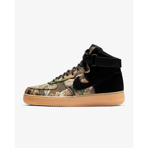 [해외] Nike Air Force 1 High 07 LV8 3 Realtree® [나이키 하이탑] Black/Aloe Verde/Gum Medium Brown/Black (AO2410-001)