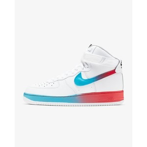 [해외] Nike Air Force 1 High 07 LV8 [나이키 하이탑] White/Blue Fury/Black/Ember Glow (CJ0525-100)