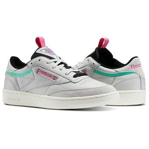 [해외] Club C 85 RAD [리복 운동화] Skull Grey/Bright Emerald/Radical Pink/Chalk (BS5151)