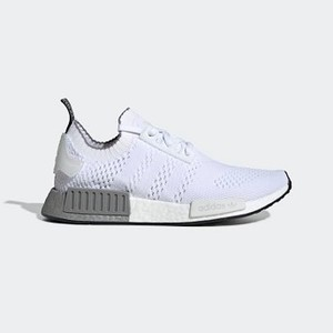 Mens Originals NMD_R1 Primeknit Shoes [아디다스 운동화] Cloud White/Cloud White/Grey Three (EE5074)