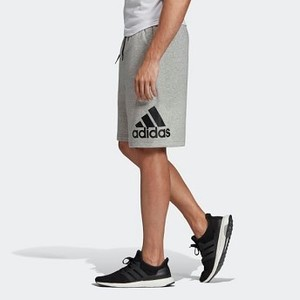 Mens Athletics Must Haves Badge of Sport Shorts [아디다스 반바지] Medium Grey Heather/White (EB5260)