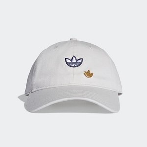 Originals Samstag Dad Cap [아디다스 볼캡] Raw White/White/Gold Metallic (DV1410)