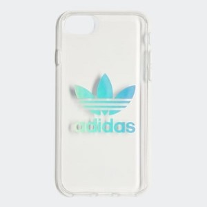 Originals Holographic Clear Case iPhone 8 [아디다스 아이폰케이스] Silver Metallic (CM1490)