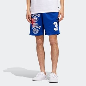 Mens Originals Test Print Shorts [아디다스 반바지] Collegiate Royal/Active Orange/White (EC7300)