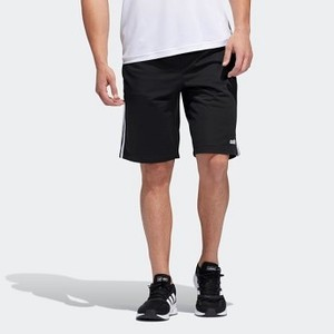 Mens Essentials Essentials 3-Stripes Shorts [아디다스 반바지] Black/White (DZ8479)
