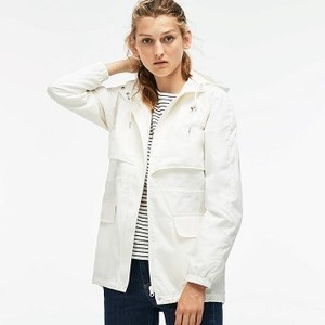 Womens Hooded Long Cotton Twill Windbreaker [라코스테 자켓] (BF8912-51)