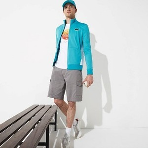 Mens SPORT Miami Open Edition Jacket [라코스테 자켓] Turquoise/White-GPY (Selected colour) (SH7475-51)