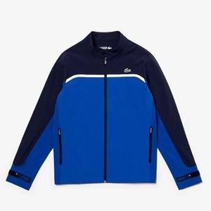 Mens SPORT Color-Blocked Lightweight Stretch Zip Jacket [라코스테 자켓] Blue/Navy Blue/White-1YB (Selected colour) (BH7985-51)