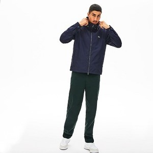 Mens Hooded Weather-Adaptable Windbreaker Jacket [라코스테 자켓] Navy Blue/Navy Blue-GSU (Selected colour) (BH8382-51)
