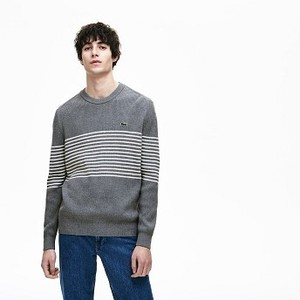 Mens Ribbed Crew Neck Sweater [라코스테 스웨터] (AH3381-51)