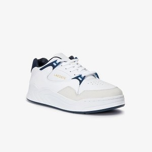Men's Court Slam Two-Tone Leather Sneakers [라코스테 운동화] (38SMA0048)
