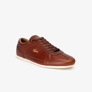 Mens Evara Premium Leather Sneakers [라코스테 운동화] TAN/OFF WHITE-F57 (Selected colour) (38CMA0071)
