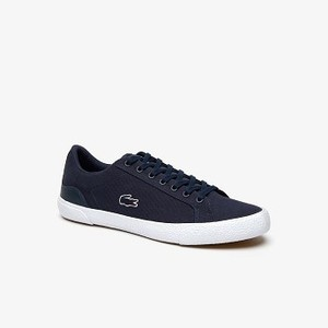 Mens Lerond Canvas Sneakers [라코스테 운동화] NVY/WHT-092 (Selected colour) (38CMA0056)