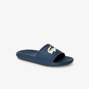 Mens Croco Rubber Slides [라코스테 운동화] BLUE/OFF WHITE-2M8 (Selected colour) (37CMA0022)