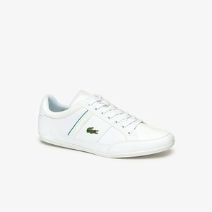 Mens Chaymon Synthetic and Textile Sneakers [라코스테 운동화] WHT/GREEN-082 (Selected colour) (37CMA0011)