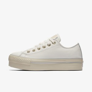 [해외] CONVERSE Converse Chuck Taylor All Star Leather Platform Low Top White (558914C-100)